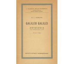 CERVINI M. L. - Galileo Galilei. Antologia. Con introduzione e note. SEI, 1965
