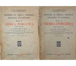 CHIMICA INORGANICA tomi 1 e 2 di E. MOLINARI (1943, Hoepli) - ER