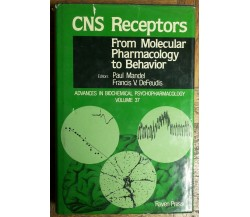 CNS Receptors - Mandel, DeFeudis - Raven Press,1983 - R