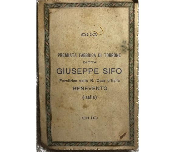 Calendarietto Ditta Giuseppe Sifo di Giuseppe Sifo,  1928,  Aa.vv.