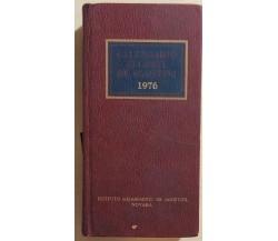 Calendario Atlante DeAgostini 1976 di Aa.vv., 1976, Istituto Geografico Deagosti