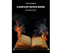Campani notes book. Il mio Block Notes di Paolo Campani,  2021,  Youcanprint