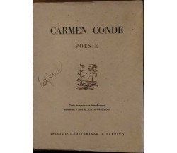Carmen Conde. Poesie (autografato dalla curatrice) -  Juana Granados