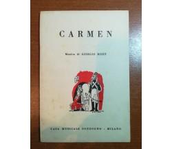 Carmen - Giorgio Bizet - Sonzogno - 1960 - M