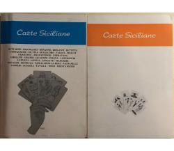 Carte siciliane 2 libri di Aa.vv., 1986, Alfa Grafica Sgroi