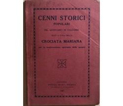 Cenni storici popolari del santuario di Valverde di AA.VV., 1947, Crociata maria