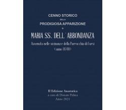 Cenno storico della prodigiosa apparizione di Maria SS. dell'Abbondanza, 2021