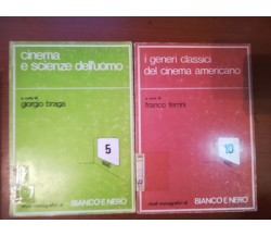 Cinema e sienze- Generi cinema americano - AA.VV.- Bianco e nero - 1973- M