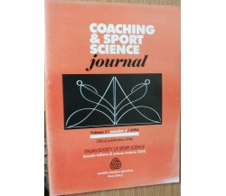 Coaching & Sport Science Vol. 1 - AA.VV. - Società Stampa Sportiva,1994 - R