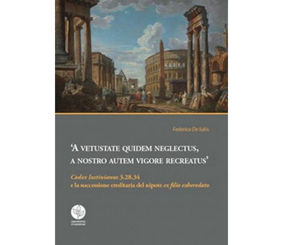 «Codex Iustinianus» 3.28.34 e la successione ereditaria del nipote