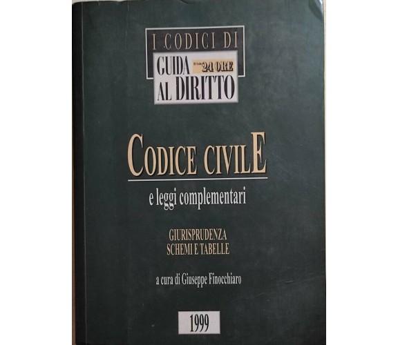 Codice civile e leggi complementari di Giuseppe Finocchiaro, 1999, Il Sole 24 Or