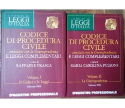 Codice di procedura civile Vol. I e II-AA.VV.-De Agostini Professionale,2004-R