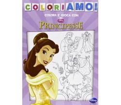 Colora e gioca con Principesse - Aa.vv.,  2013,  Walt Disney