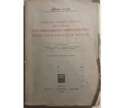 Commento teorico pratico enti locali in Siciliadi Salvatore Spataro, 1964, Giuf