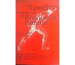 Compendio di Fisiologia umana - Langley (Vallardi 1975) Ca