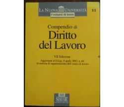 Compendio di diritto del lavoro - edizioni Simone,2003 - A