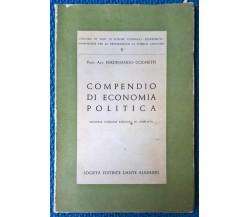 Compendio di economia politica- F. Cognetti - 1961, Soc. Ed. Alighieri - L