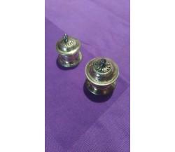 Coppia porta pillole in argento, Germania inizi-metà '900, 12 e 14 gr.