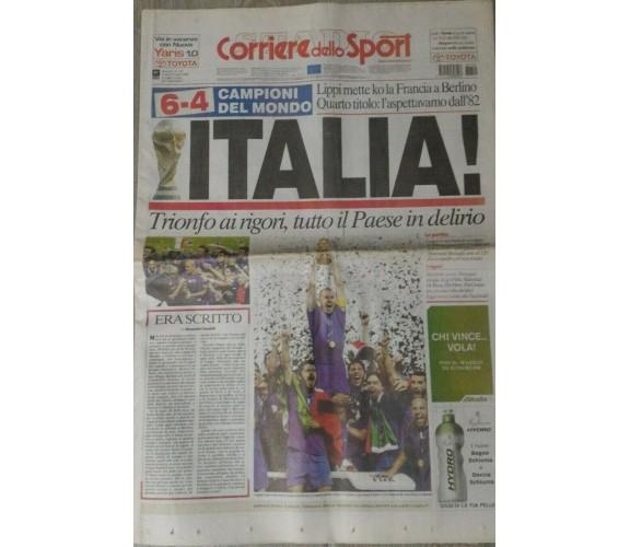 Corriere dello sport Italia campione del mondo,mondiali di calcio2006