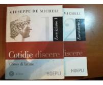 Cotidie discere 1 e 2 - Giuseppe De micheli - Hoepli - 2006 - M