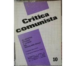 Critica comunista vol. 10 - giugno 1979 - ER