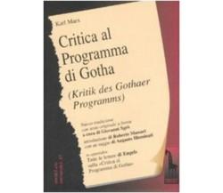 Critica del programma di Gotha. Testo tedesco a fronte di Karl Marx,  2008,  Mas