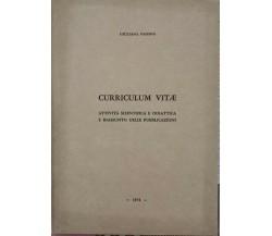 Curriculum Vitae di Giuliana Fassina, 1974 - ER