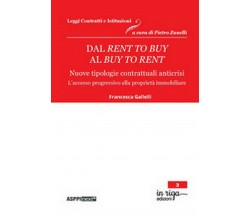 Dal rent to buy al buy to rent. Nuove tipologie contrattuali anticrisi.