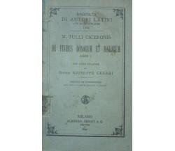 De Finibus Bonorum Et Malorum -Cesari - 1899 - Albrighi, Segati & Co. - lo