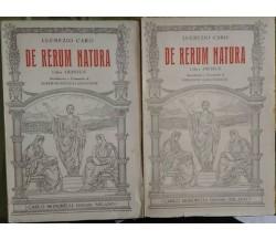 De Rerum Natura (Liber Primus - Liber Quintus) - Lucrezio Caro,1932, Signorelli