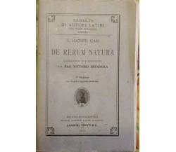 De Rerum Natura  di T. Lucreti Cari, 1922,  Società Editrice Dante Alighieri