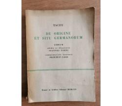 De origine et situ germanorum - Tacito - 1964 - AR