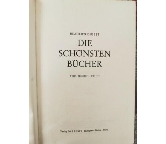 Die Schonsten Bucher fur junge leser  di Reader's Digest,  1973,  Das Beste - ER