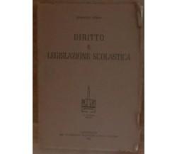 Diritto e legislazione scolastica - Ermanno Renda - A.Armando,1958 - A