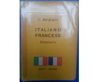 Dizionario Italiano Francese - Cesare Bergoglio - Bietti,1961 - R