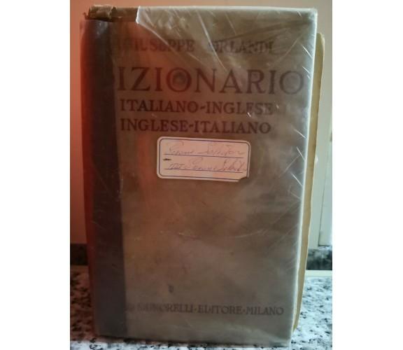 Dizionario Italiano- Inglese, Inglese- italiano di Giuseppe Orlandi,1964,  -F