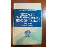 Dizionario Italiano-Tedesco Parte 1- E.Bidoli,G.Cosciani - Paravia - 1982 - M