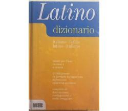 Dizionario Latino-italiano italiano-latino di Aa.vv., 2001, Meb