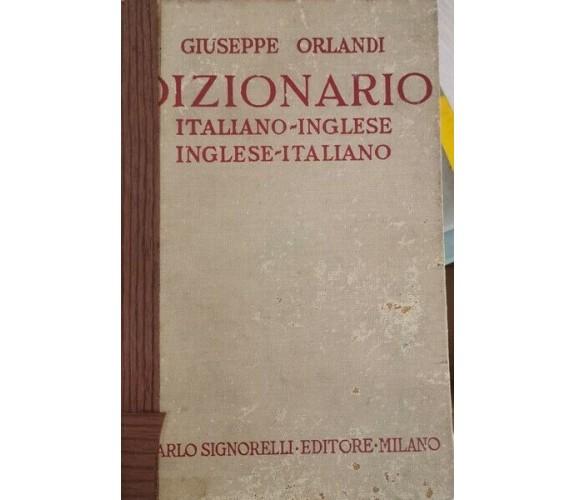 Dizionario inglese-italiano, italiano-inglese ORLANDI (1960) - ER