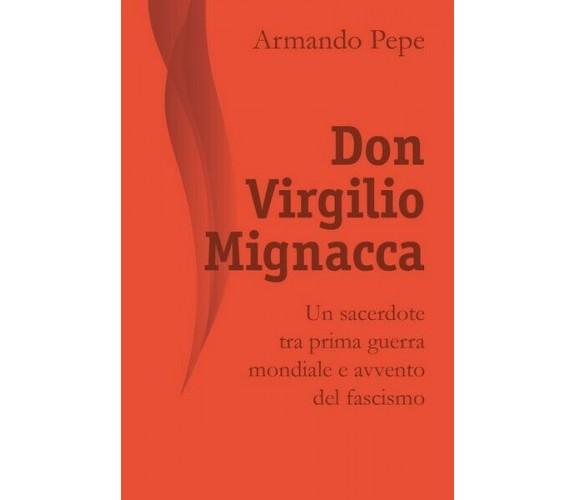 Don Virgilio Mignacca. Un sacerdote tra prima guerra mondiale e avvento del - ER