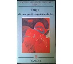 Droga chi come perchè - Cancrini, Malagoli-Togliatti, Meucci - Sansoni, 1977 - L