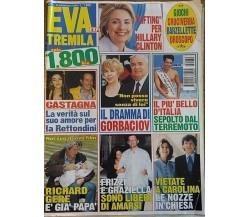 EVA TREMILA N°39 - 29 settembre 1999 - Hillary Clinton, Gorbaciov, Richard Gere.