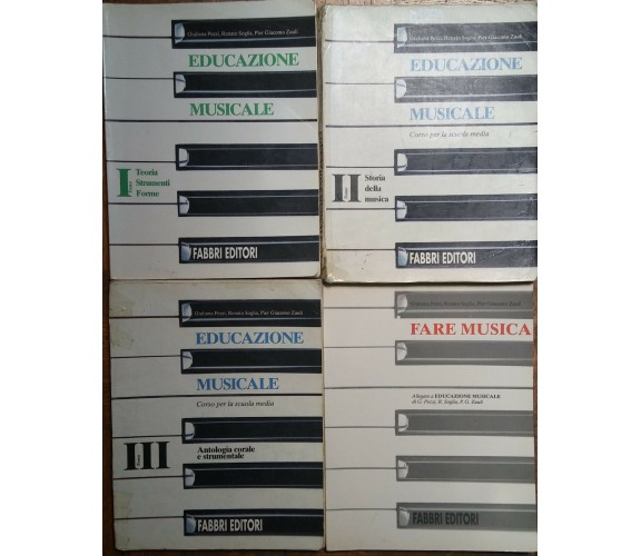 Educazione Musicale Tomi I,II,III + allegato - AA.VV. - Fabbri Editori - R