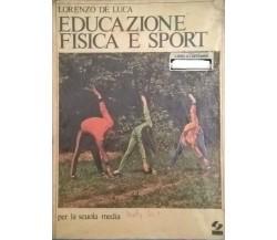 Educazione fisica e sport - Lorenzo De Luca (SEI 1980) Ca