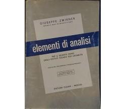 Elementi di analisi matematica - Giuseppe Zwirner,  1978,  Cedam