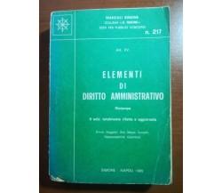 Elementi di diritto amministrativo - AA.VV. - Simone - 1985 - M