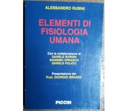 Elementi di fisiologia umana - Rubini - Piccin,2002 - R