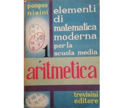 Elementi di matematica moderna di Pompeo Nisini, 1966, Trevisini Editore -D
