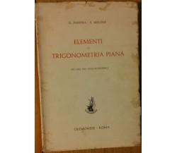 Elementi di trigonometria piana - Faretra, Melone - Cremonese,1959 - R