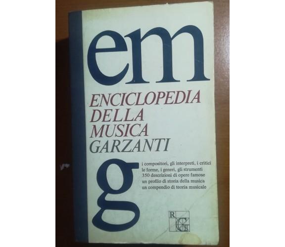 Enciclopedia della musica - AA.VV - Garzanti - 1974 - M
